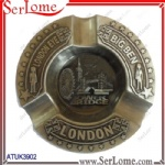 Antique Bronze Plated Metal Big Ben Ashtray